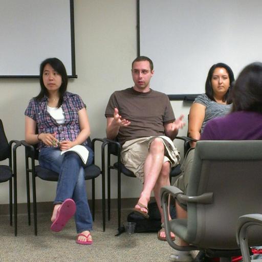 Photograph of Nicholas on NSF Graduate Panel
